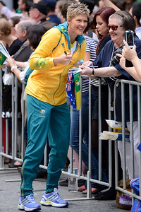 Beach Volleyballer Natalie Cook - Welcome home to Aussie Olympic Athletes; Queen Street Mall,City, Brisbane, Queensland, Australia; 24 August 2012. Photos by Des Thureson - http://disci.smugmug.com. (Camera 1)