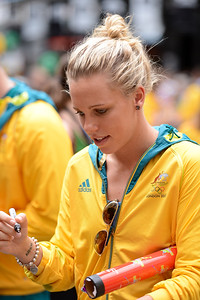 Meagen Nay - Welcome home to Aussie Olympic Athletes; Queen Street Mall,City, Brisbane, Queensland, Australia; 24 August 2012. Photos by Des Thureson - http://disci.smugmug.com. (Camera 1)