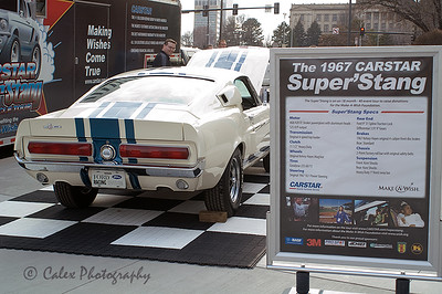 Make a Wish foundation and Carstar 1967 Superstang on display.