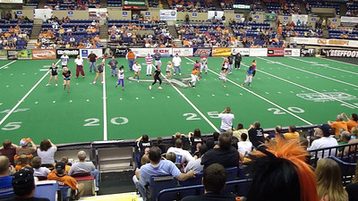 Prime and Rumproaster dances at the Final Reg Season Game at the Slaughterhouse