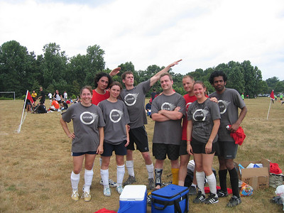 Team Shot: Juliette, Ciprian, Simone, Alex (easy to spot), Theo, Chris, Christina (water, not sweat), & Prasanna