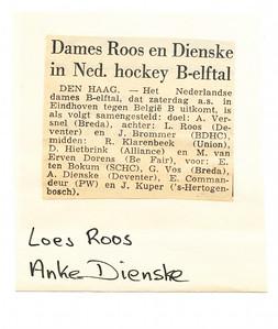 Dienskeartnr1 Artikel uit ? Is t.z.t. wel na te gaan.  Is ws. seizoen 60-61 Zie Hockeysport dat seizoen nr. 30, p.572. In ordner John Hendriks   Collectie Anke Dienske