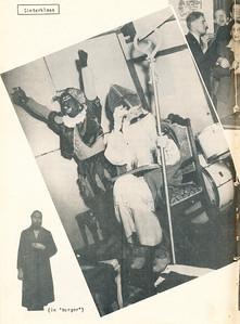Sint1953nr02 Onderschrift: zie foto  Opmerking: links onder dus die man die Sinterklaas speelde wie ??   Clubnieuws 15 (1953-1954) 2 november p. 20