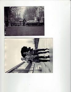 Foto 1 Ed van Orden bij ingang veld Bergweijde  Foto 2 Ed van Orden en Huib Michielsen bij clubhuis Bergweijde   CollectieEdvanOrden Fotograaf: onbekend Formaat foto 1: 12 x 9 Foto 2 : 10.5 x 14  Afdrukken zw