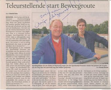 artikel De Stentor Opmerking: ik dacht wel 2011-2012   Collectie Ed van Orden los Fotograaf: Ronald Hissink Formaat: 16 x 12 foto  Afdruk kleur