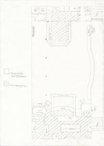 Onderschrift: geen Opmerking: plattegrond clubhuis circa 1990 zoals gebruikt voor jeugdfeesten door het jeugdbestuur   Collectie Jeroen Kok A 4