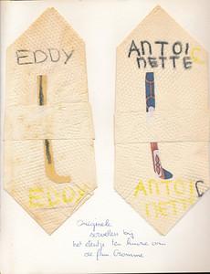 omstreeks 1980 Onderschrift: zie foto  Opmerking: Ed van Orden 10-9-2012: etentje van M D 1 bij familie Cromme   Antoinette = Antoinette Cromme    Collectie Ed van Orden