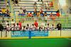 Onondaga Redhawks bench during the game against the Six Nations Slash at the Onondaga Nation Arena near Nedrow, New York on Sunday, June 29, 2014.  Onondaga won 30-6.