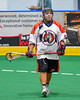 Onondaga Redhawks Kevin Wilkerson (9) before playing the Newtown Golden Eagles in Can-Am Box Lacrosse action at the Onondaga Nation Arena near Nedrow, New York on Saturday, July 29, 2016.  Newtown won 10-7.