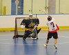 """Onondaga Redhawks Mike Abrams (7) fires in a goal against the Allegany Arrows in Can-Am Senior """"B"""" Box Lacrosse league action at the Onondaga Nation Arena in Nedrow, New York on Sunday, June 26, 2011.  Redhawks won 30-4."""
