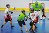 """Onondaga Red Hawks Neal Powless (16) flips a pass over the shoulder against the Rochester Greywolves in Can-Am Senior """"B"""" Box Lacrosse playoff action at the Onondaga Nation Arena in Nedrow, New York on Friday, July 15, 2011.  Greywolves won 12-8."""