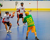"""Newtown Golden Eagles Linden Stevens (89) passes to a teammate agaisnt the Onondaga Redhawks in a Can-Am Senior """"B"""" box lacrosse game at the Onondaga Nation Arena (Tsha'hon'nonyen'dakhwa') near Nedrow, New York on Saturday, May 12, 2012."""