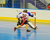 Onondaga Redhawks No. 36 scores against the Niagara Hawks in Can-Am Senior B Box Lacrosse game held at the Onondaga Nation Arena near Nedrow, New York on Sunday, June 10, 2012. Redhawks won 11-4.