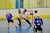 Onondaga Redhawks goalie Ross Bucktooth (30) makes a save against the Niagara Hawks in Can-Am Senior B Box Lacrosse game held at the Onondaga Nation Arena near Nedrow, New York on Sunday, June 10, 2012. Redhawks won 11-4.