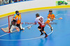 """Onondaga Redhawks Dustin Hill (20) shots and scores agains Six Nations Slash in round two of the Can-Am Senior """"B"""" playoffs at the Onondaga Nation Arena near Nedrow, New York on Friday, July 27, 2012. Redhawks won 17 to 5."""