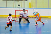 """Six Nations Slash Hugh Johnson (0) about to score against the Onondaga Redhawks in round two of the Can-Am Senior """"B"""" playoffs at the Onondaga Nation Arena near Nedrow, New York on Friday, July 27, 2012. Redhawks won 17 to 5."""