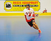 "Onondaga Redhawks Neal Powless (16) lining up a shot against the Newtown Golden Eagles in the Can-Am Senior ""B"" Box Lacrosse finals at the Onondaga Nation Arena near Nedrow, New York."