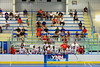 "Onondaga Redhawks bench during game 2 against the Newtown Golden Eagles in the finals of the Can-Am Senior ""B"" Lacrosse league at the Onondaga Nation Arena near Nedrow, New York."