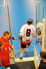 "Onondaga Redhawks Kevin Wilkerson (8) before the playoff games against the Newtown Golden Eagles in the Can-Am Senior ""B"" Box Lacrosse finals at the Onondaga Nation Arena near Nedrow, New York."