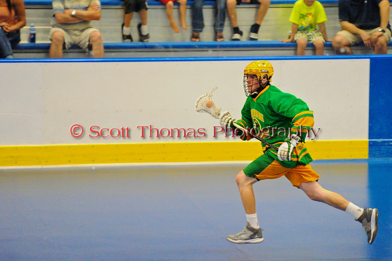 """Onondaga Redhawks host the Newtown Golden Eagles in the Can-Am Senior """"B"""" Box Lacrosse finals at the Onondaga Nation Arena near Nedrow, New York."""