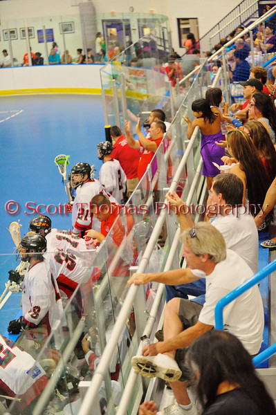 People attending the Onondaga Redhawks playoff game against the Newtown Golden Eagles Lacrosse league at the Onondaga Nation Arena near Nedrow, New York on Saturday, August 12, 2012.