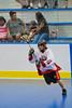 "Onondaga Redhawks Clayton Jones (11) looking to make a play against the Niagara Hawks in Can-Am Senior ""B"" playoff game at the Onondaga Nation Arena near Nedrow, New York on Saturday, July 20, 2011. Onondaga won 12-2."