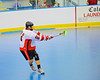 "Onondaga Redhawks Luke Thompson (21) launches a shot against the Niagara Hawks in Can-Am Senior ""B"" playoff game at the Onondaga Nation Arena near Nedrow, New York on Saturday, July 20, 2011. Onondaga won 12-2."