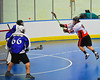 "Onondaga Redhawks James Cathers (22) takes a jump shot at the Niagara Hawks net in Can-Am Senior ""B"" playoff game at the Onondaga Nation Arena near Nedrow, New York on Saturday, July 20, 2011. Onondaga won 12-2."