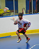 "Onondaga Redhawks Dan Rogers (17) against the Niagara Hawks in Can-Am Senior ""B"" playoff game at the Onondaga Nation Arena near Nedrow, New York on Saturday, July 20, 2011. Onondaga won 12-2."