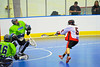 """Onondaga Redhawks Dave Limbouris (5) shoots on net agains the Rochester Greywolves in Can-Am Senior """"B"""" Box Lacrosse at the Onondaga Nation Arena near Nedrow, New York on Saturday, April 28, 2012."""