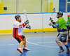 "Onondaga Redhawks Pete Benedict (10) passes to a teammate against the Rochester Greywolves in Can-Am Senior ""B"" Box Lacrosse at the Onondaga Nation Arena near Nedrow, New York on Saturday, April 28, 2012."