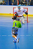 "Rochester Greywolves fires a shot at Onondaga Redhawks goalie Spencer Lyons (1) in Can-Am Senior ""B"" Box Lacrosse at the Onondaga Nation Arena near Nedrow, New York on Saturday, April 28, 2012."