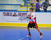 """Onondaga Redhawks Dwayne Porter (23) passes to a teammate against the Rochester Greywolves in Can-Am Senior """"B"""" Box Lacrosse at the Onondaga Nation Arena near Nedrow, New York on Saturday, April 28, 2012."""