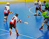 """Onondaga Redhawks Dwayne Porter (23) fires a shot at the Rochester Greywolves goal in Can-Am Senior """"B"""" Box Lacrosse at the Onondaga Nation Arena near Nedrow, New York on Saturday, April 28, 2012."""