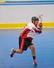 Onondaga Redhawks Brett Bucktooth (66) fires a shot towards the Tuscarora Tomahawks net at the Onondaga Nation Arena near Nedrow, New York on Saturday, June 23, 2012.