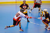 Onondaga Redhawks Brett Bucktooth (66) releases a shot against the Tuscarora Tomahawks at the Onondaga Nation Arena near Nedrow, New York on Saturday, June 23, 2012.