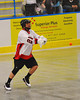 Onondaga Redhawks Vince Thomas (22) passes the ball against the Allegany Arrows at the Onondaga Nation Arena near Nedrow, New York on Saturday, May 3, 2014.  Onondaga won 21-5.