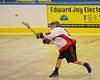 Onondaga Redhawks Wade Bucktooth (19) fires a shot at the Tuscaroa Tomahawks net at the Onondaga Nation Arena near Nedrow, New York on Saturday, April 26, 2014. Onondaga won 8-7 in overtime.
