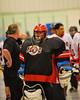 Onondaga Redhawks goalie Edmund Cathers (30) after defeating the Tuscaroa Tomahawks at the Onondaga Nation Arena near Nedrow, New York on Saturday, April 26, 2014. Onondaga won 8-7 in overtime.