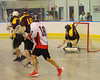 Tuscaroa Tomahawks goalie Findle Wilson (31) makes a save against the Onondaga Redhawks at the Onondaga Nation Arena near Nedrow, New York on Saturday, April 26, 2014. Onondaga won 8-7 in overtime.