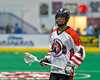 Onondaga Redhawks Lyle Thompson (4) playing against the Newtown Golden Eagles in Can-Am Box Lacrosse action at the Onondaga Nation Arena near Nedrow, New York on Saturday, July 9, 2016.  Onondaga won 14-6.