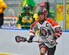 Onondaga Redhawks Brett Bucktooth (66) with the ball against the Newtown Golden Eagles in Can-Am Box Lacrosse action at the Onondaga Nation Arena near Nedrow, New York on Saturday, July 9, 2016.  Onondaga won 14-6.