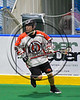 Onondaga Redhawks Wade Bucktooth (19) with the ball against the Rochester River Monsters in Can-Am Box Lacrosse action at the Onondaga Nation Arena near Nedrow, New York on Sunday, April 23, 2017.  Onondaga won 13-5.