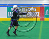 Rochester River Monsters Chris Crane (86) passing the ball against the Onondaga Redhawks in Can-Am Box Lacrosse action at the Onondaga Nation Arena near Nedrow, New York on Sunday, April 23, 2017.  Onondaga won 13-5.