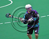 Rochester River Monsters Jason Briggs (55) looking to make a play against the Onondaga Redhawks in Can-Am Box Lacrosse action at the Onondaga Nation Arena near Nedrow, New York on Sunday, April 23, 2017.  Onondaga won 13-5.