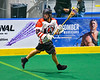 Onondaga Redhawks Colton Tarbell (26) with the ball against the Newtown Golden Eagles in Can-Am Box Lacrosse action at the Onondaga Nation Arena near Nedrow, New York on Sunday, April 28, 2019.  Onondaga won 8-6.