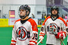 Onondaga Redhawks Cree Cathers (15) after a win over the Newtown Golden Eagles in a Can-Am Box Lacrosse game at the Onondaga Nation Arena near Nedrow, New York on Sunday, April 28, 2019.  Onondaga won 8-6.