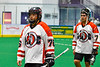Onondaga Redhawks Lee Nanticoke (76) after a win over the Newtown Golden Eagles in a Can-Am Box Lacrosse game at the Onondaga Nation Arena near Nedrow, New York on Sunday, April 28, 2019.  Onondaga won 8-6.