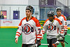 Onondaga Redhawks Leland Powless (7) after a win over the Newtown Golden Eagles in a Can-Am Box Lacrosse game at the Onondaga Nation Arena near Nedrow, New York on Sunday, April 28, 2019.  Onondaga won 8-6.