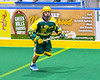 Newtown Golden Eagles Kaine Kettle (21) with the ball against the Onondaga Redhawks in Can-Am Box Lacrosse action at the Onondaga Nation Arena near Nedrow, New York on Sunday, April 28, 2019.  Onondaga won 8-6.